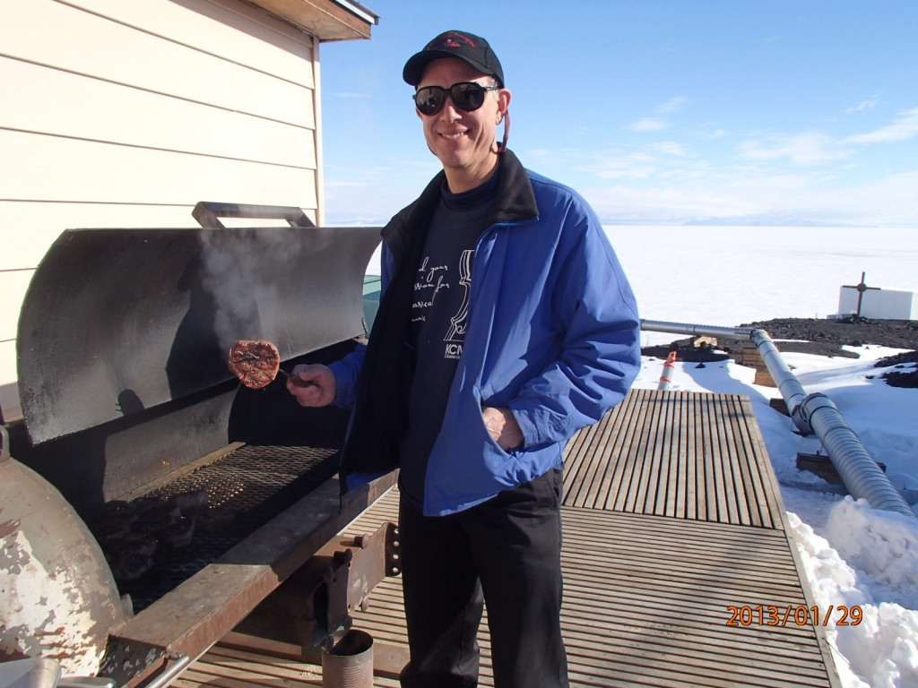 Grilling at Hut 10