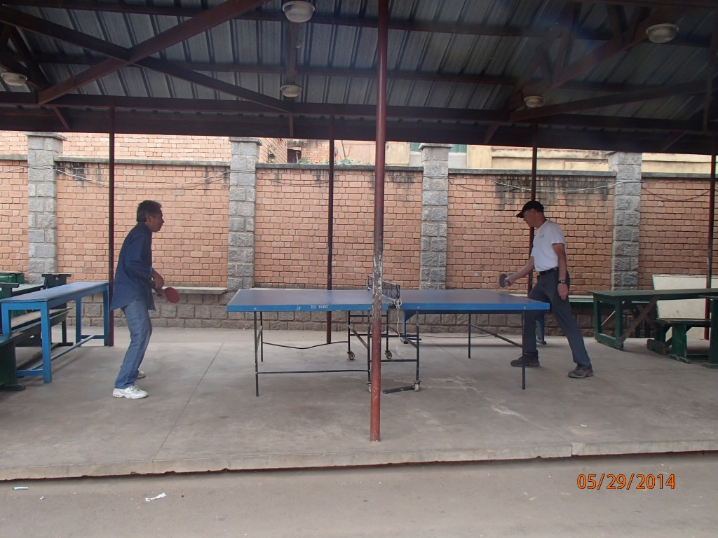 The director of the school, Richard, was a ping pong fan too