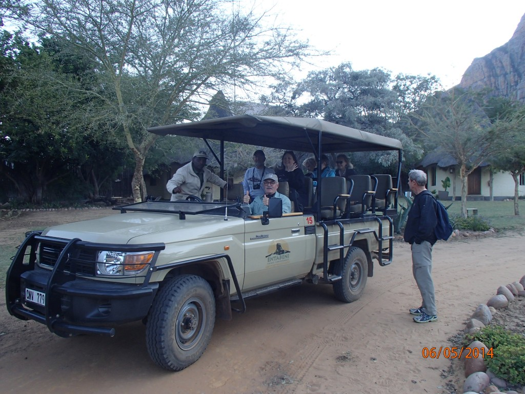 Open vehicles on safari don't offer much warmth or protection from the lions!