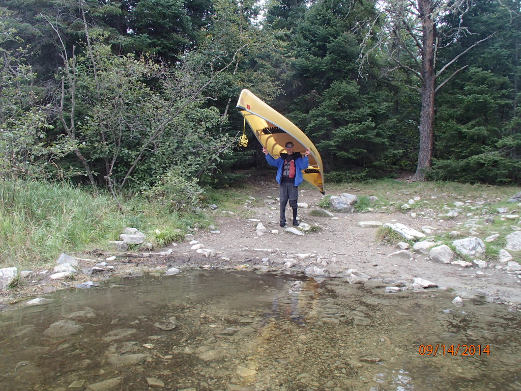 Our Kevlar canoe made portaging seem like nothing more than  carrying a piano on your shoulders through a wooded, rocky trail