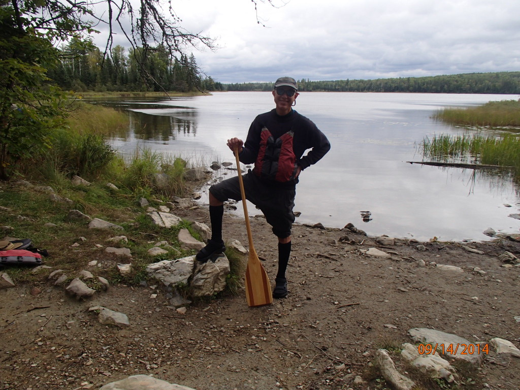 The height of canoe fashion with waterproof knee high sealskinz socks and Tevas