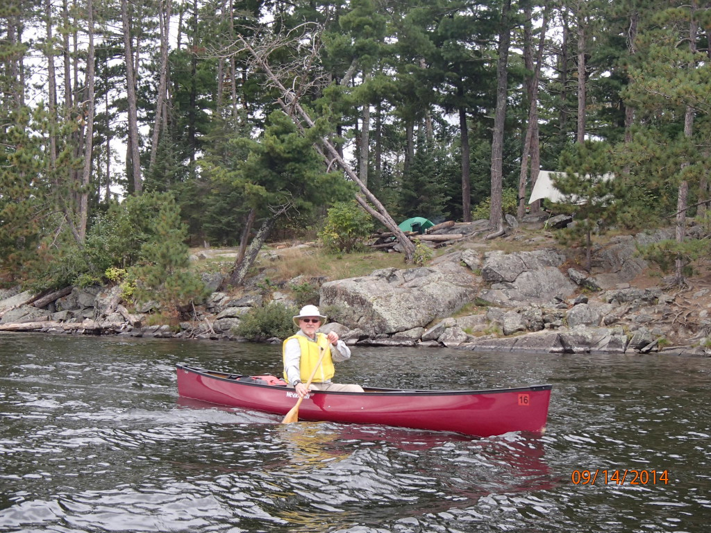 Our leader, Ron, leading the way in his solo canoe