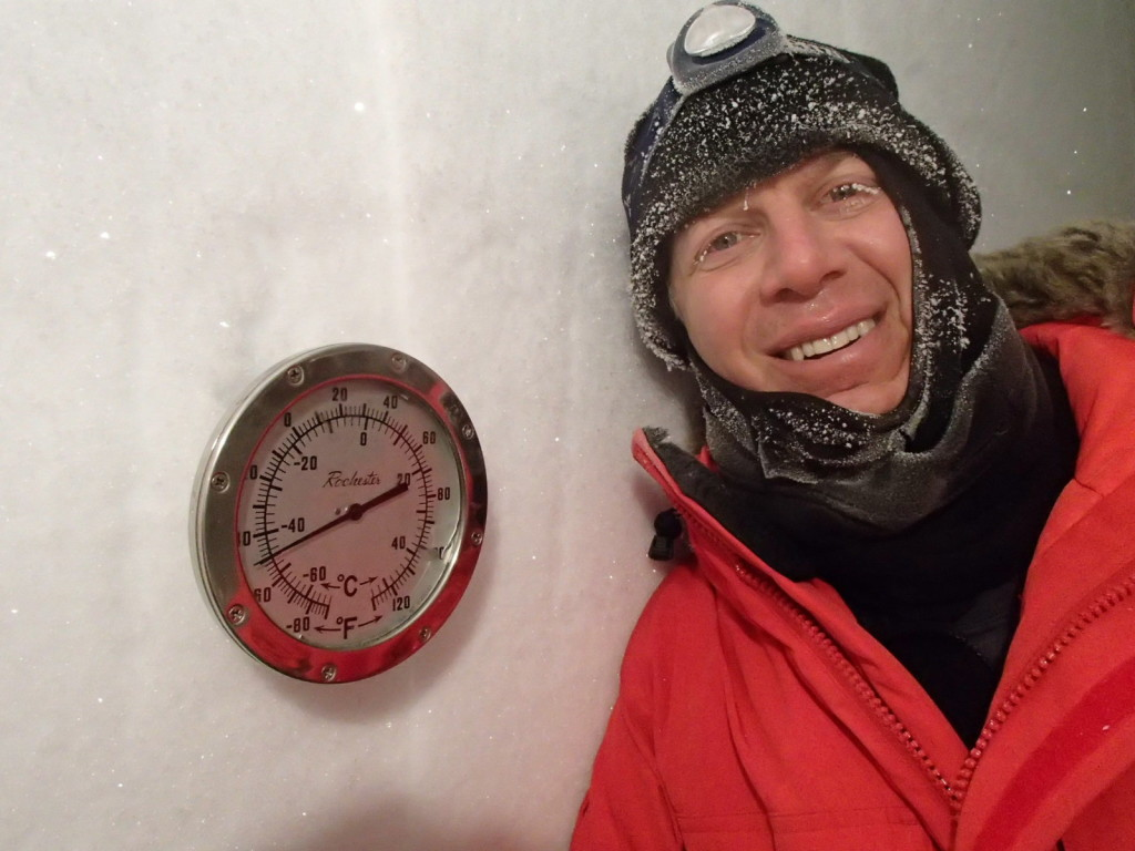South Pole Ice tunnel tour at 50 below