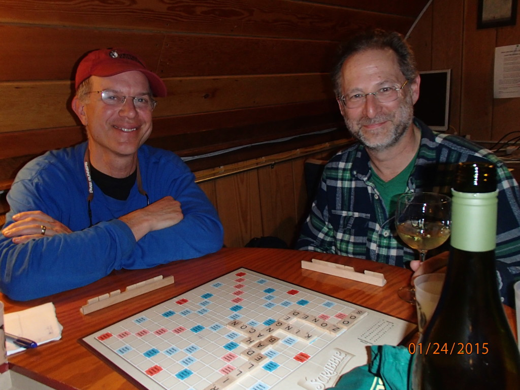 Playing Scrabble with Reed, a researcher with the WISSARD project