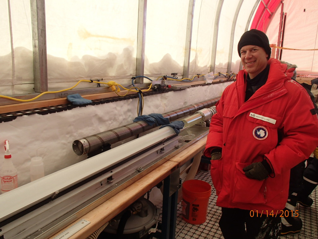 Fresh ice core sample from 6000 years ago