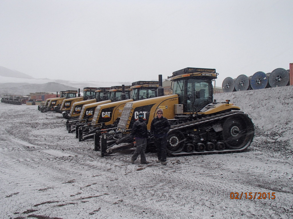 New Caterpillar tractors arrived for next year's 1000 mile traverse to the South Pole