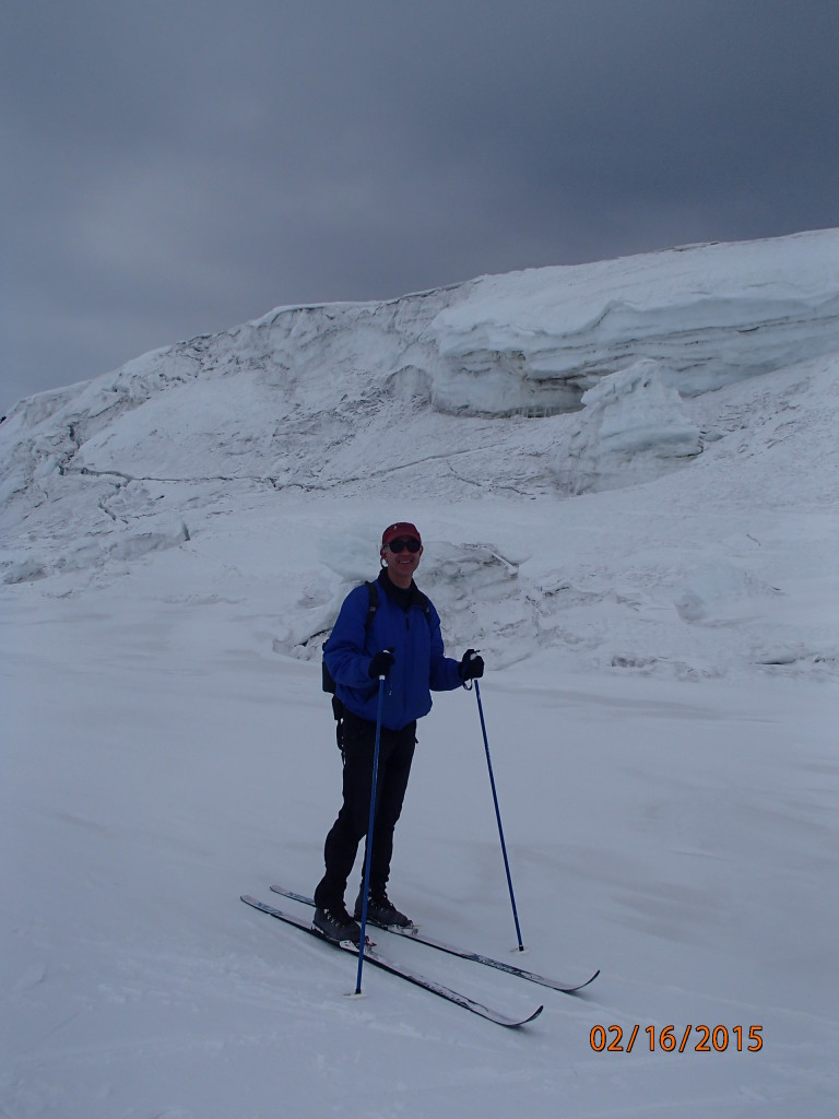 Fresh powder skiing on the Ross Ice Shelf