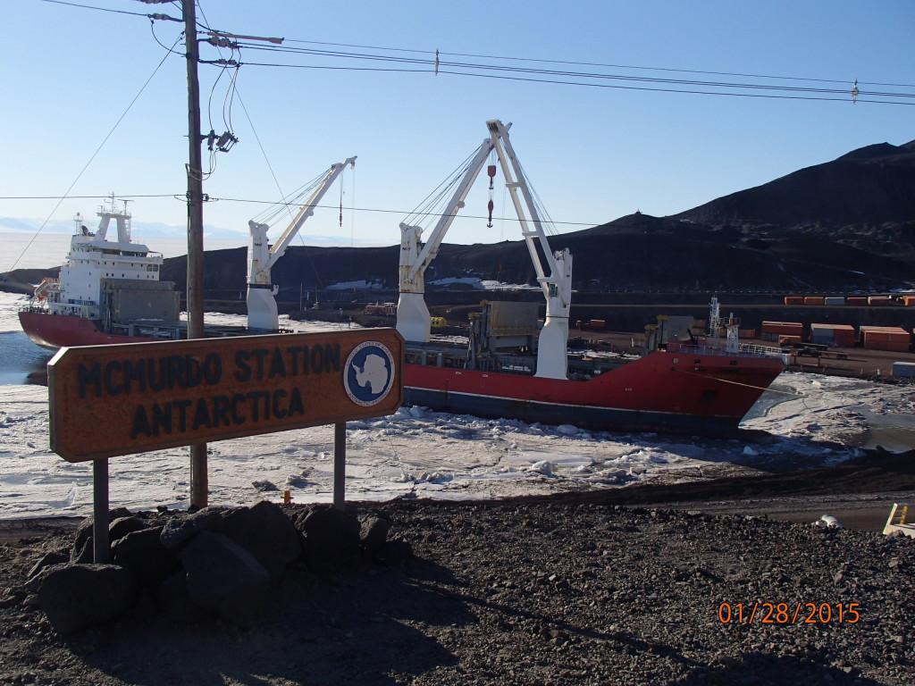 The Ocean Giant brought a years worth of cargo to McMurdo