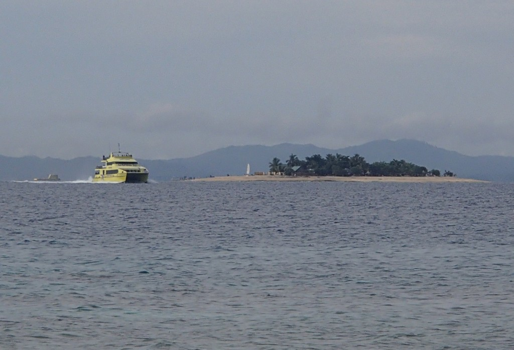 The Yasawa Flyer ferry makes daily stops at more than a dozen islands