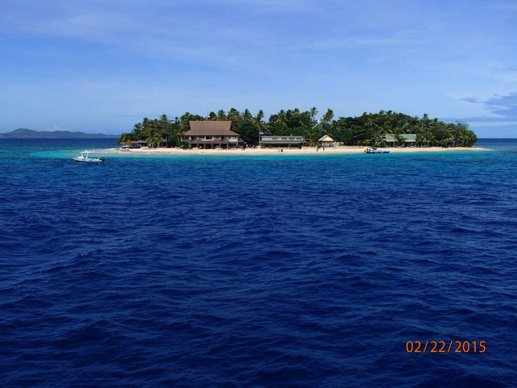 Most of the islands in Fiji are ringed with coral and turquoise water