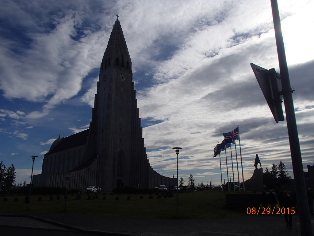 Reykjavik's famous concrete church is the tallest building in the city