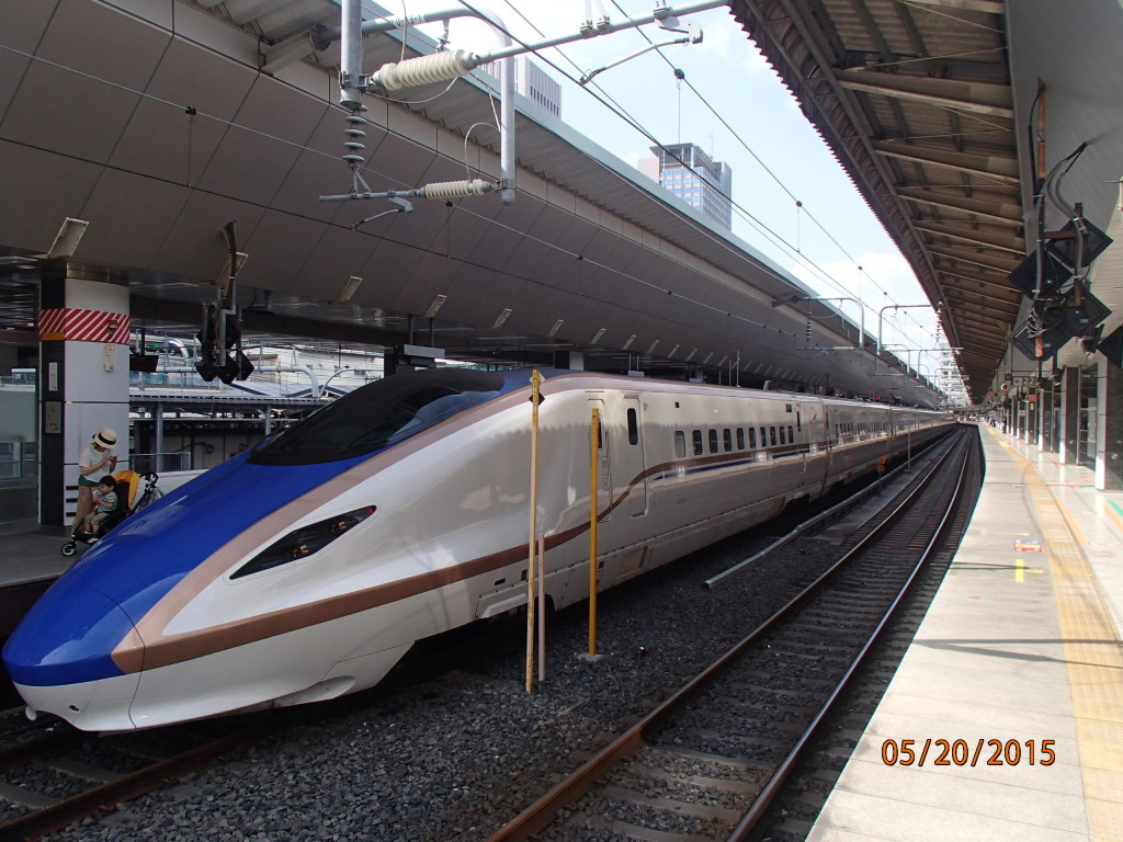 The sleek bullet trains are a model of speed, comfort and efficiency, just like Amtrak!