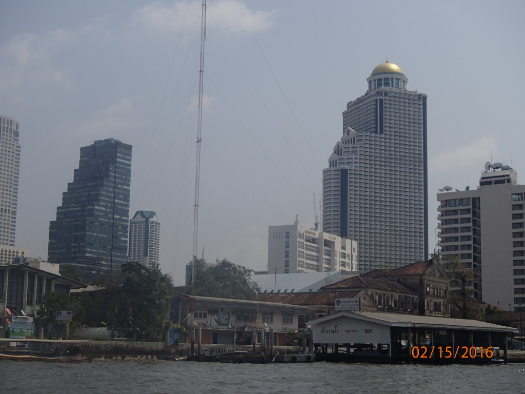 Waterfront and buildings of Bangkok