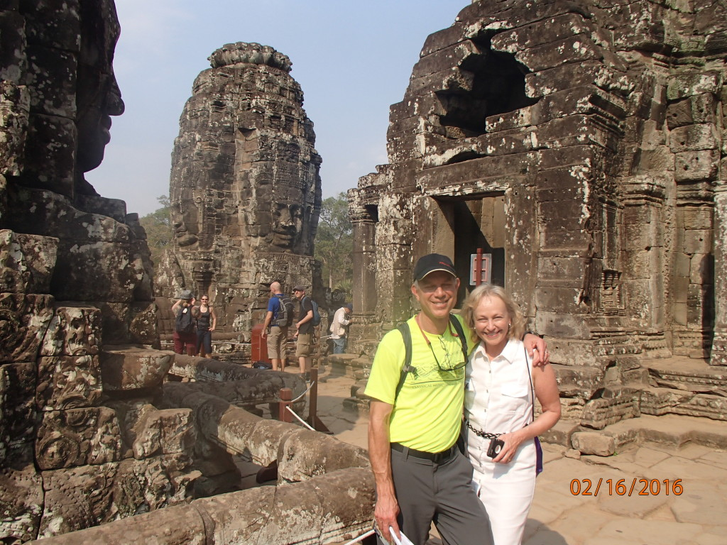 Walking among the towers at Angkor Thom
