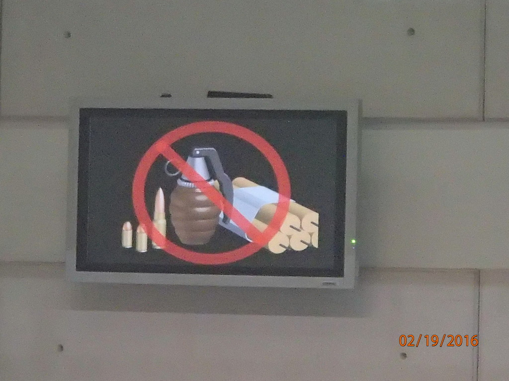 Airport sign- how come no grenades or TNT allowed on the plane?