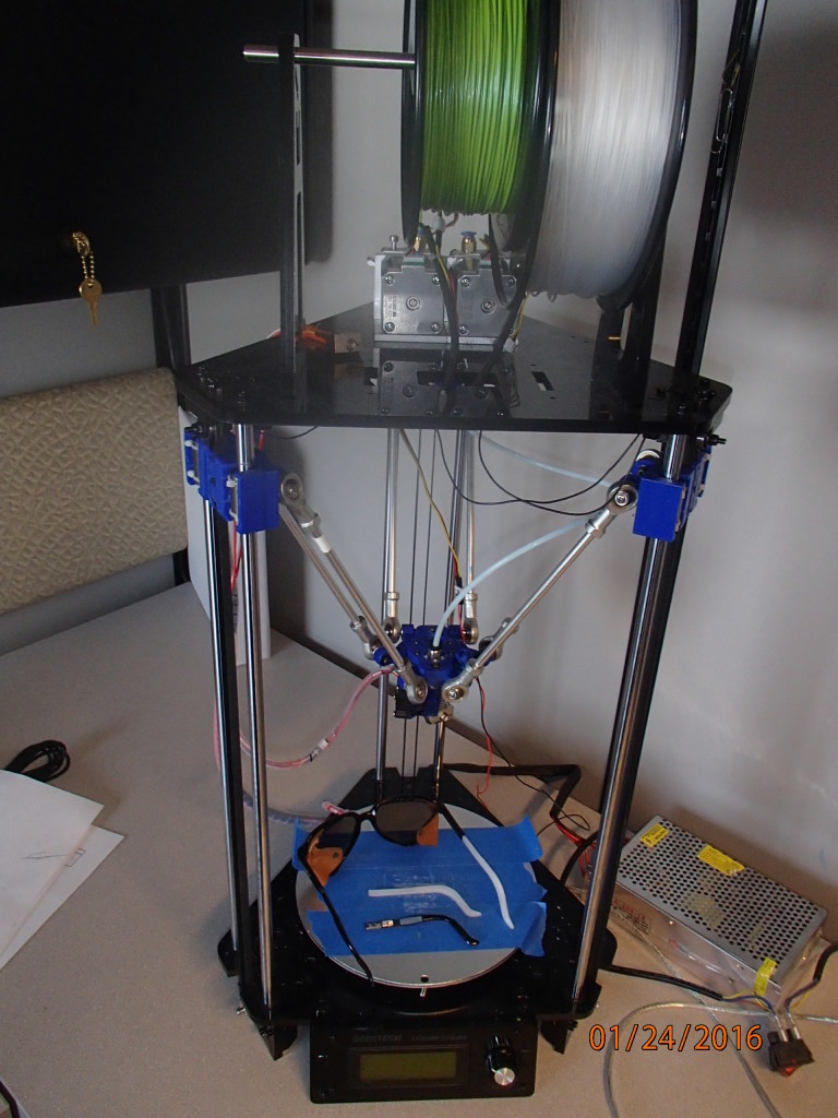 The 3D printer that made new arms for my sunglasses