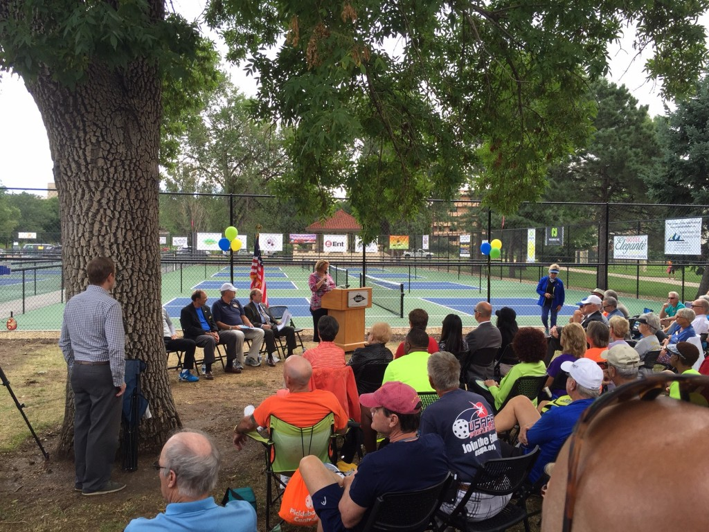 Ceremony for the 15 new pickleball courts in Colorado Springs.