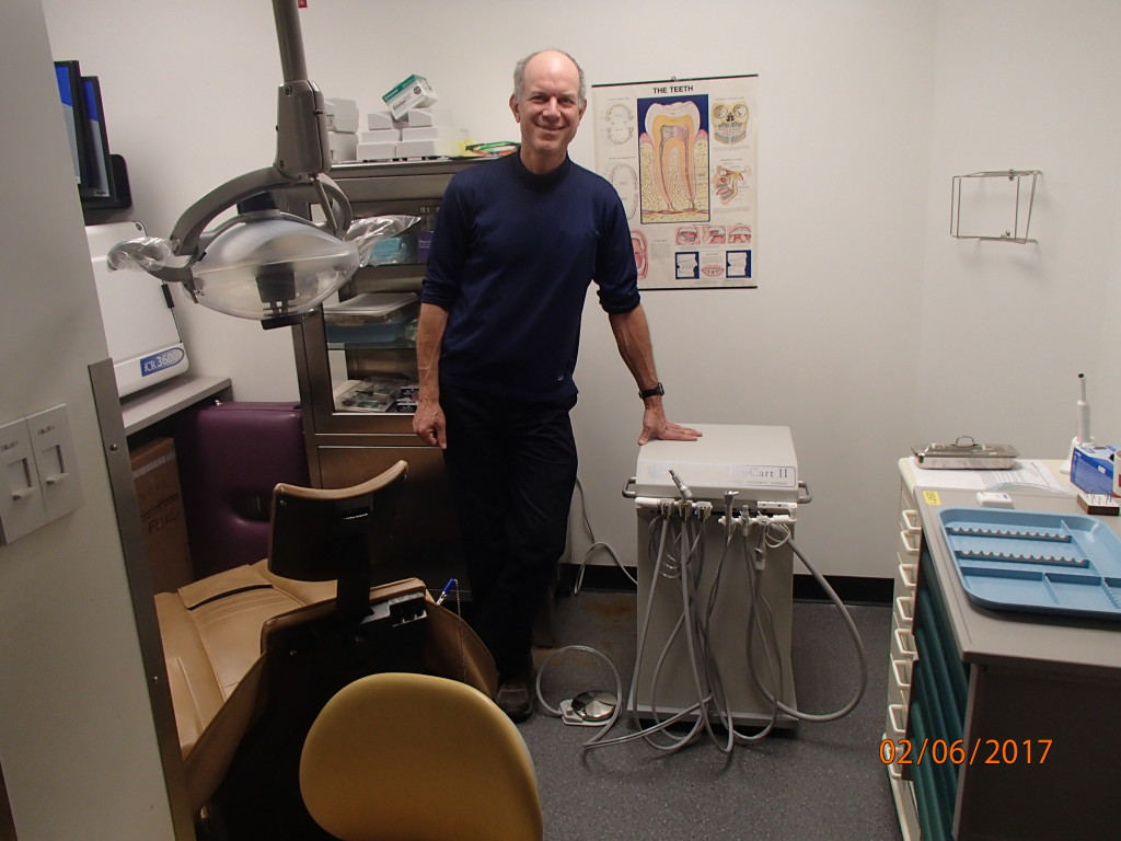 The new dental cart at the South Pole made it there one day ahead of me from Denver