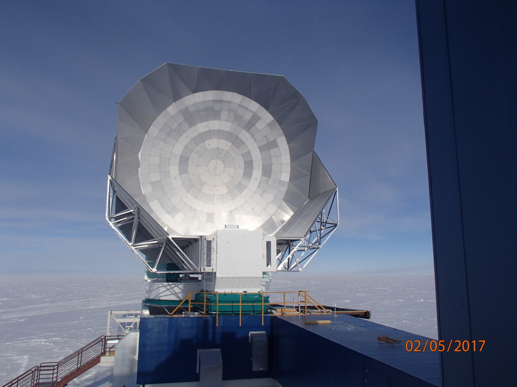 The South Pole Telescope that can see events 12.7 billion years ago