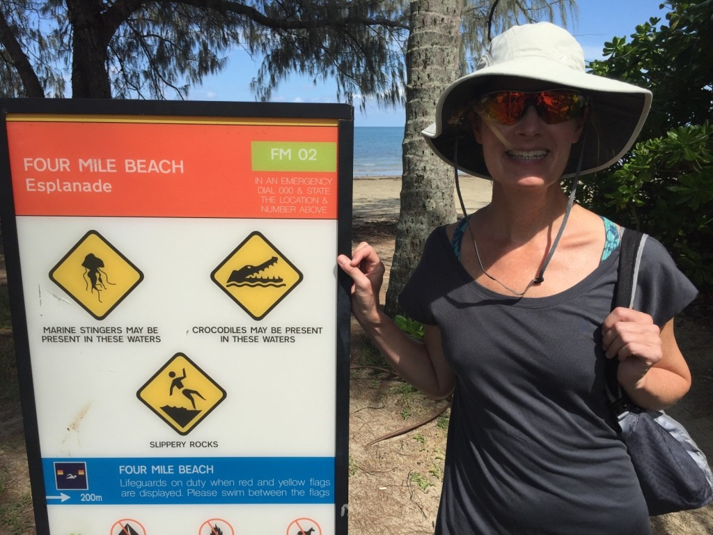 Locals can't figure out why the croc sign has concerned the tourists
