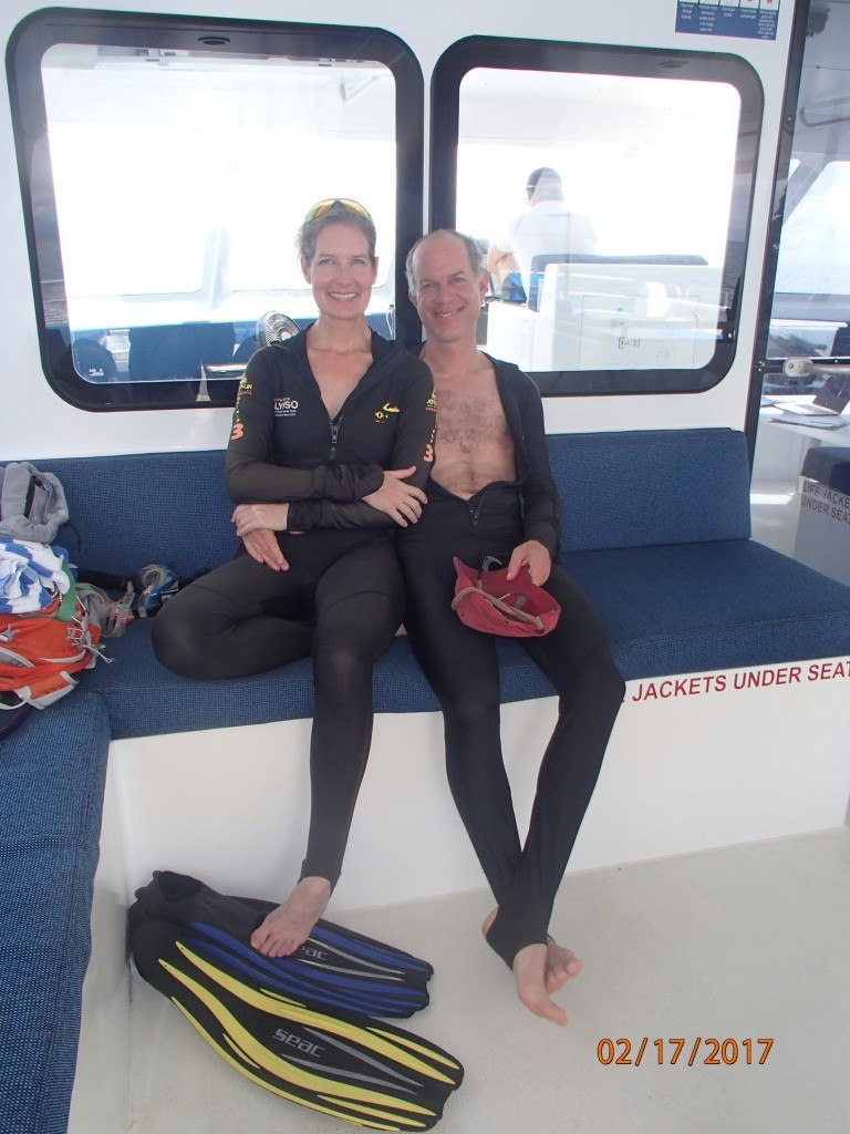 Diving on the Great Barrier Reef- all I'm missing is a gold chain!