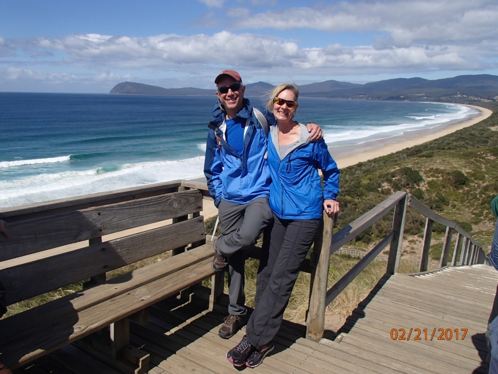 Another beautiful sweeping beach on Tasmania